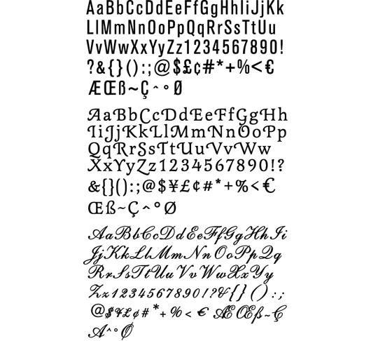 Next Up Is The Fonts Cartridge There Are 3 Various With Both Uppercase And Lowercase Letters PLUS All Numbers