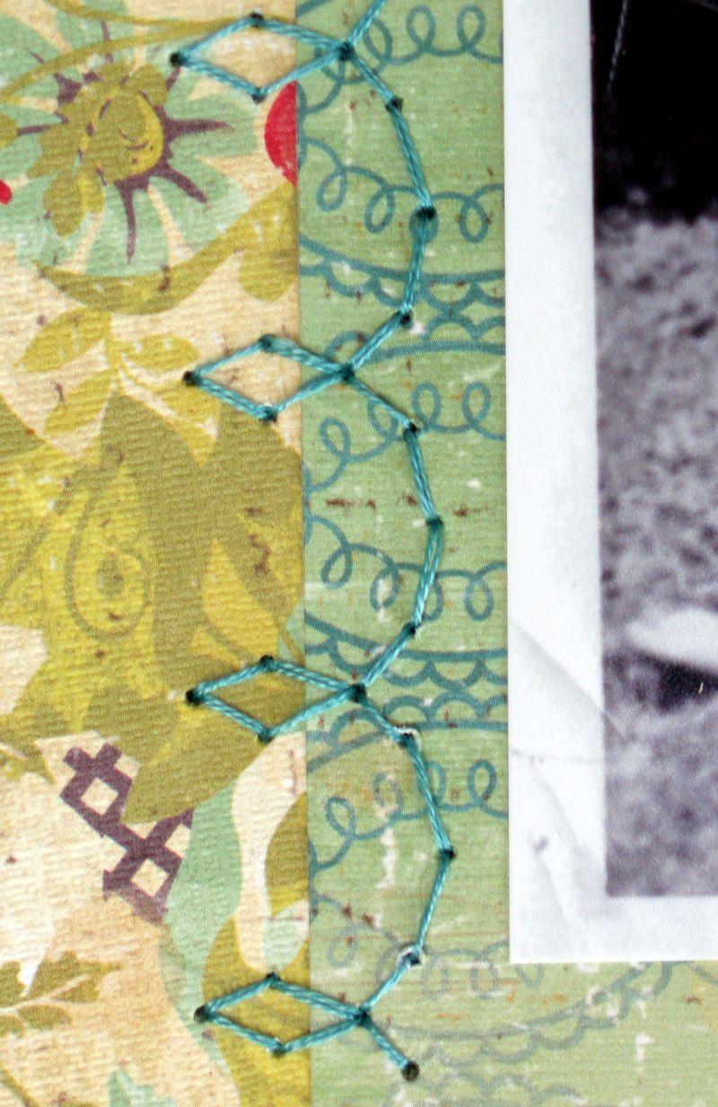 Grandma S stitching detail