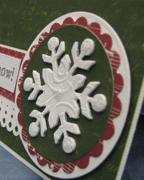 Snowflake card Close up