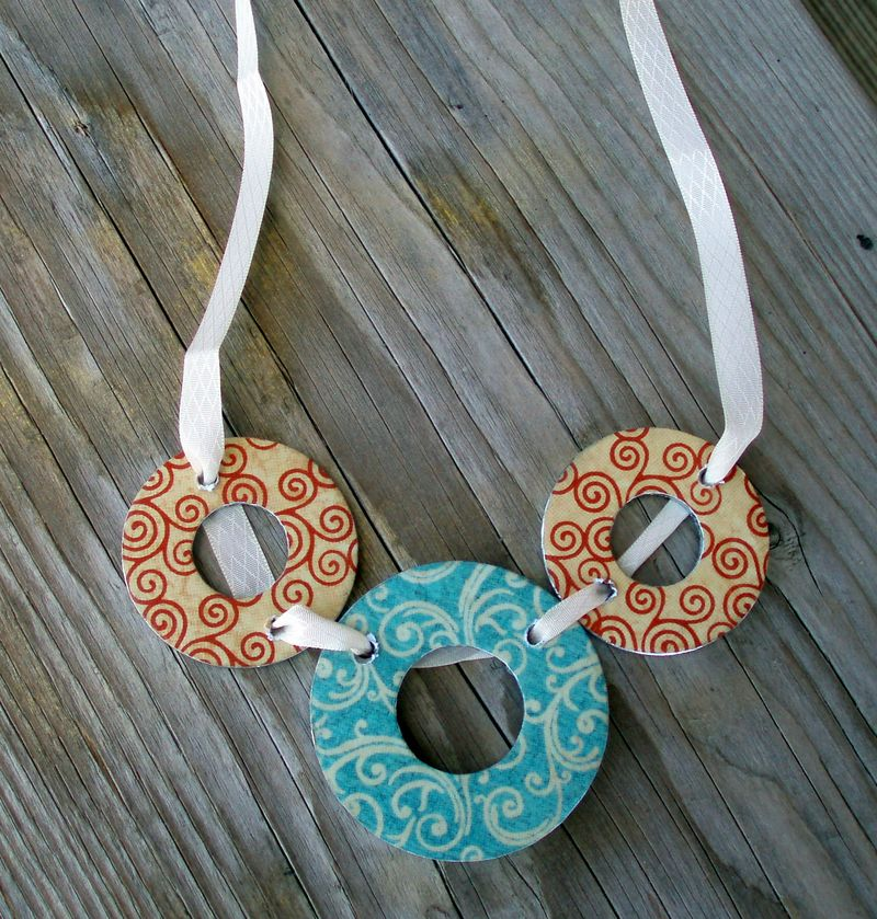 Graphic 45 bib necklace