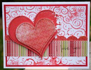 I Love You Card Grungeboard